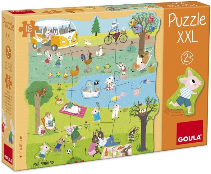 Goula XXL legpuzzel naar buiten 16 stukjes