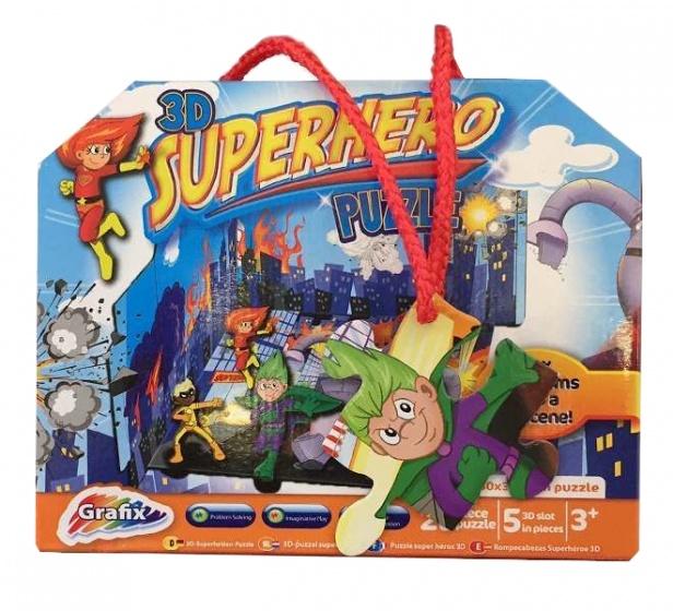 Grafix 3D puzzel Superhero 25 stukjes