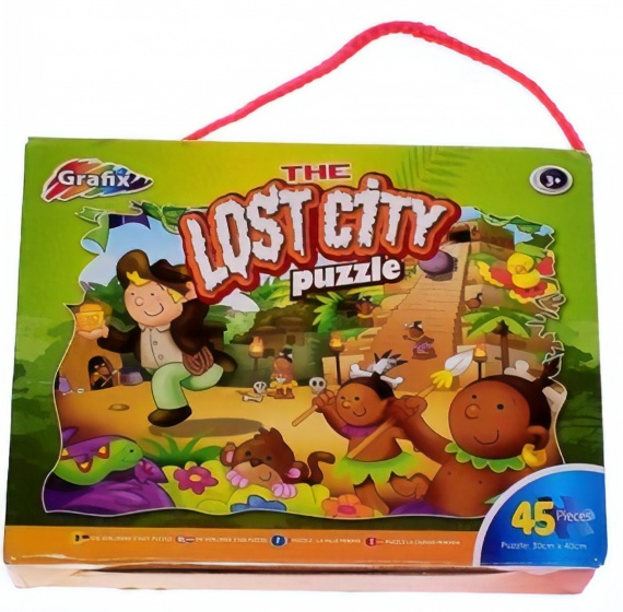 Grafix legpuzzel the lost city 45 stukjes