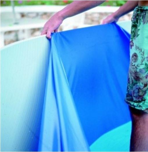 Gre Liner rond overlap blauw 350 x 90 cm