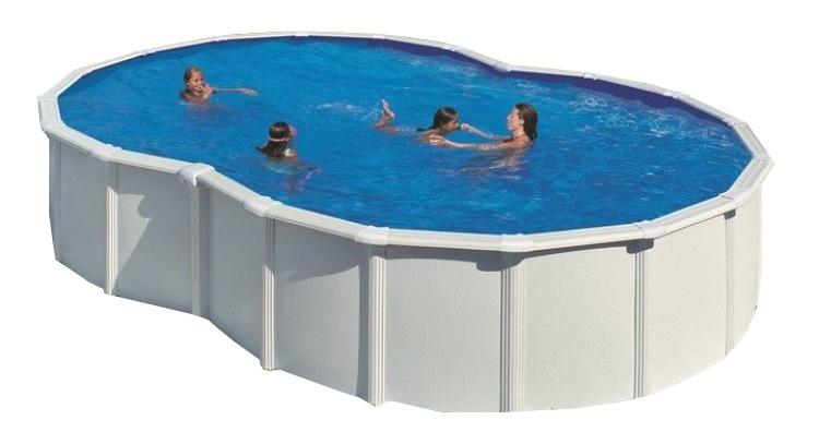 Gre Opzetzwembad Fidji Set 8 hoekig wit 640 x 390 x 120 cm