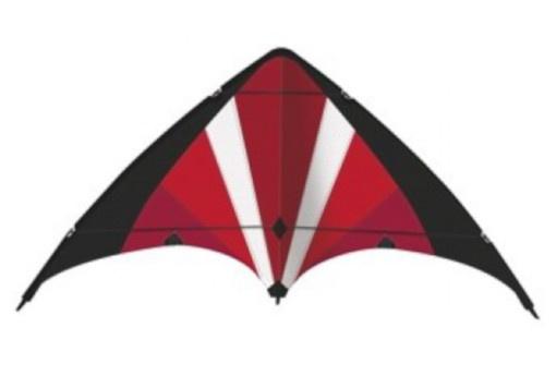 Günther stuntvlieger Power Move 130 x 69 cm rood/zwart