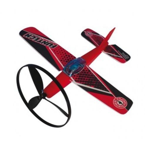 Günther vliegtuig Fun Tech 26 cm rood/zwart