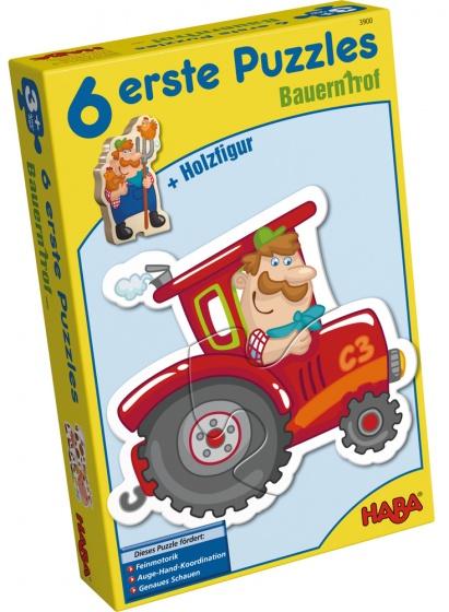 Haba 6 eerste puzzels boerderij 18 delig