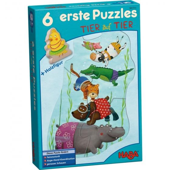 Haba 6 eerste puzzels dieren 6 delig De