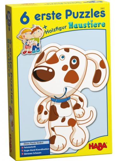 Haba 6 eerste puzzels huisdieren 18 delig