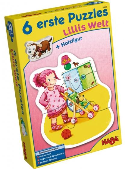 Haba 6 eerste puzzels Lilli�s wereld 18 delig