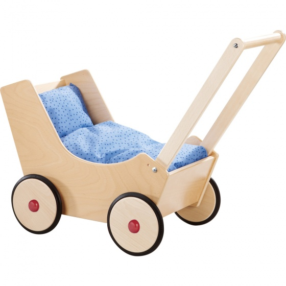 Haba houten poppenwagen met bekleding 57 cm