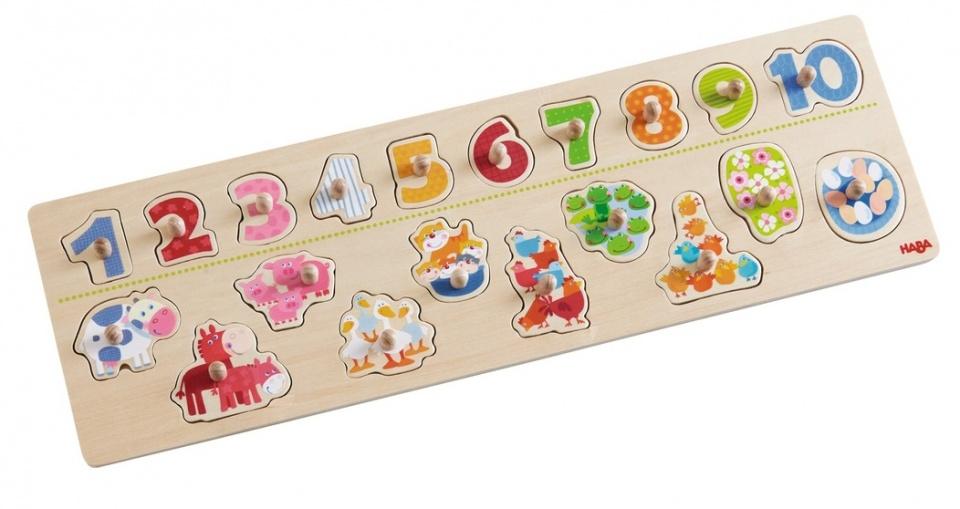 Haba houten puzzel Beestachtig Telplezier 21 delig
