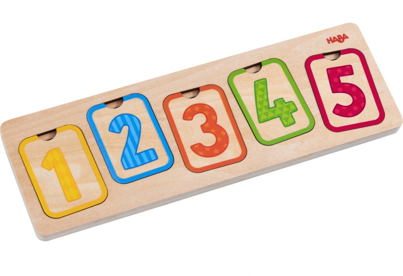 Haba houten puzzel Eerste cijfers 10 stukjes