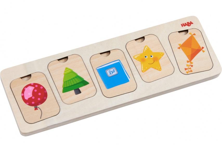 Haba houten puzzel Kleuren en Vormen 10 stukjes