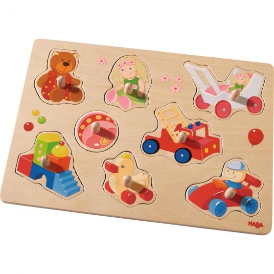Haba houten puzzel Mijn eerste speelgoed 9 delig