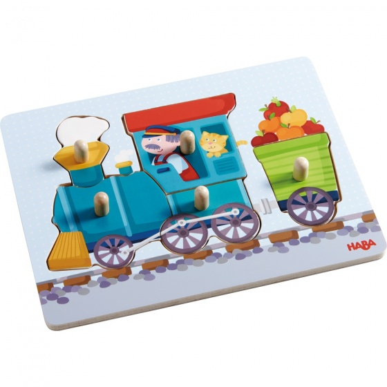 Haba houten puzzel Trein 6 delig