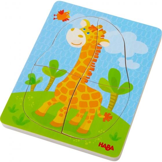 Haba houten puzzel wilde dieren 10 stukjes