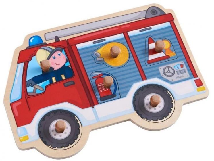 Haba inlegpuzzel brandweerauto 7 delig