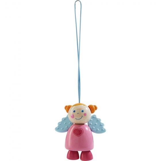 Haba kinderwagenhanger engel Sara 15 cm roze kopen