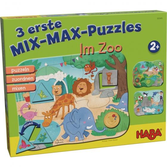Haba mix max kinderpuzzels in de dierentuin 4 delig De