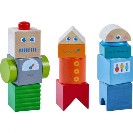 Haba ontdekkingsblokken robotvrienden 9 delig