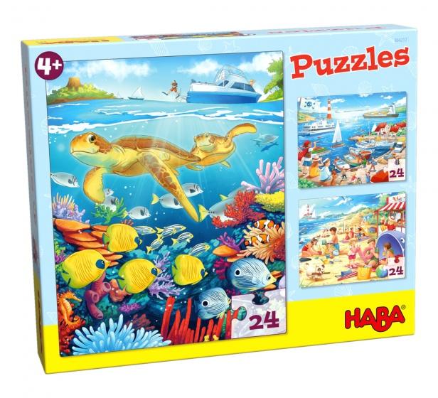 Haba puzzel Aan zee 3 stuks 24 delig