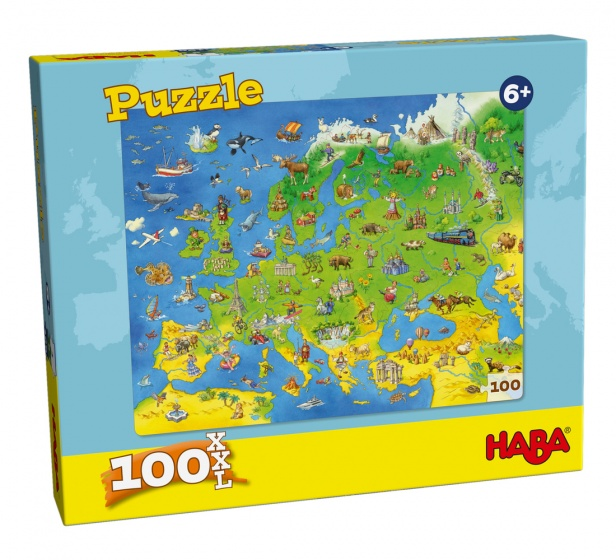 Haba puzzel Europa 100 stukjes