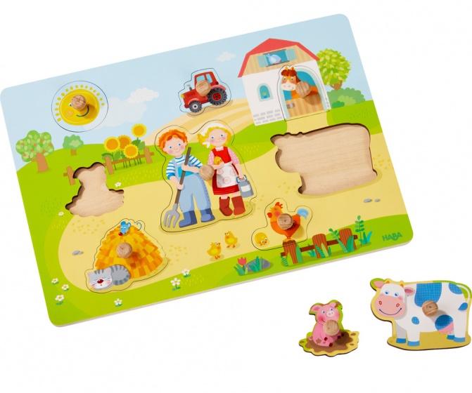 Haba puzzel op de boerderij 8 stukjes