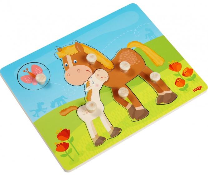 Haba puzzel paardenfamilie 6 stukjes