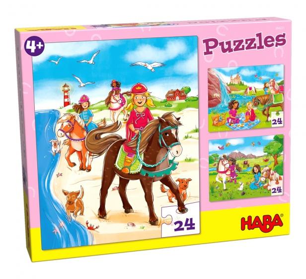 Haba puzzel Paardenvriendinnen 3 stuks 24 delig