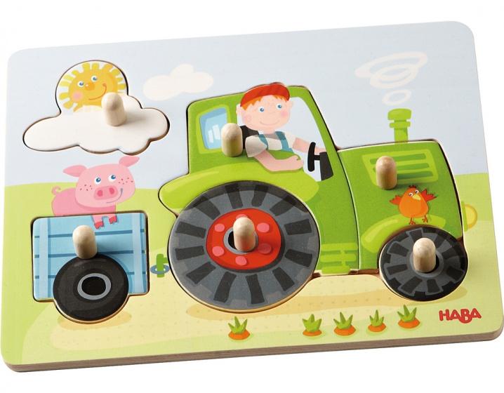 Haba puzzel Peters boerderij 6 stukjes