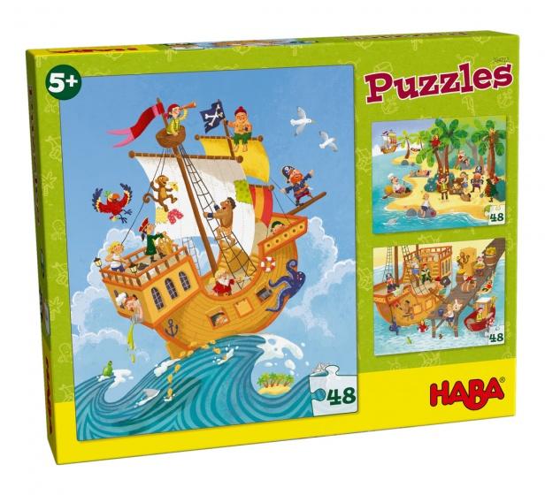 Haba puzzel Piraat & co 3 stuks 24 delig