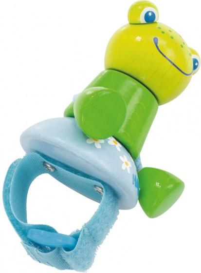 Haba speelfiguur kikker 5,5 cm groen-blauw