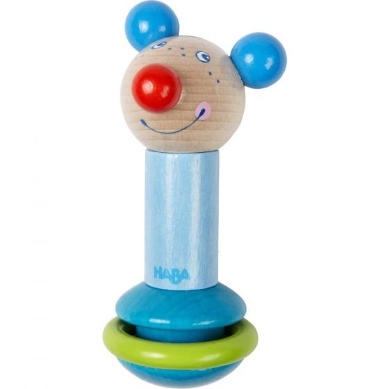 Haba staaframmelaar muis blauw 12 cm