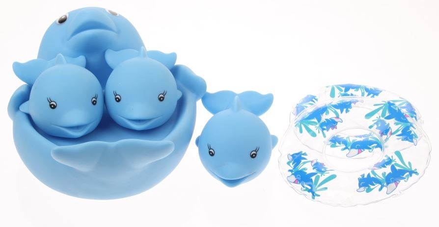 Haber Badfigurenset 4 Delig Dolfijn