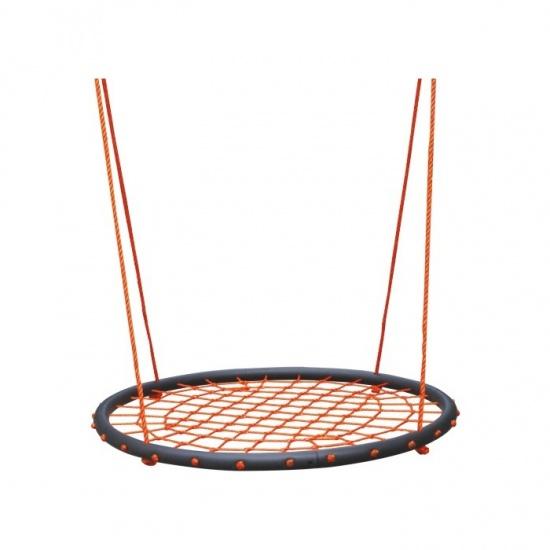 Playfun Nestschommel Oranje 4 Delig: Diameter 100 cm