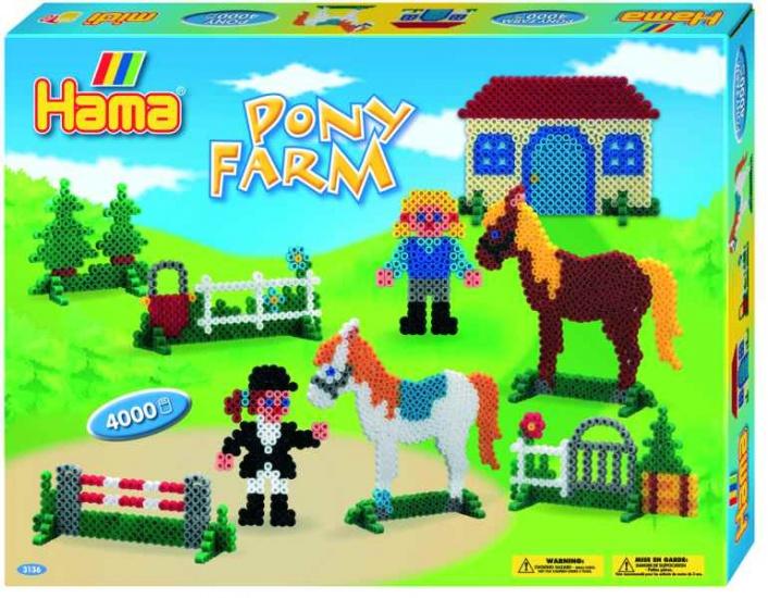 Hama pony boerderij 4.000 strijkkralen