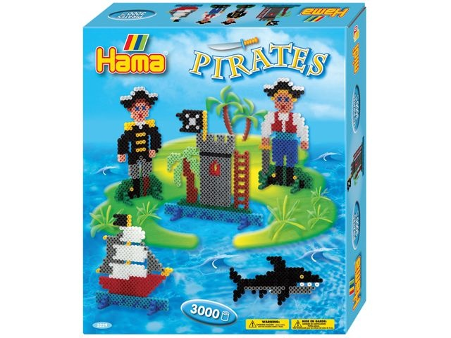 Hama Strijkkralen Pirates 3000 Stuks