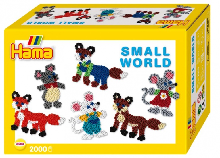 Hama Strijkkralenset Small World muis/vos 2000 kralen