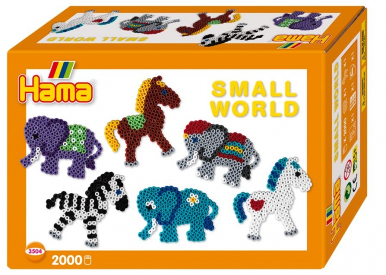 Hama Strijkkralenset Small World paard/olifant 2000 kralen
