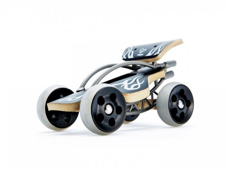 Hape bamboe e drifter raceauto 19 cm zwart