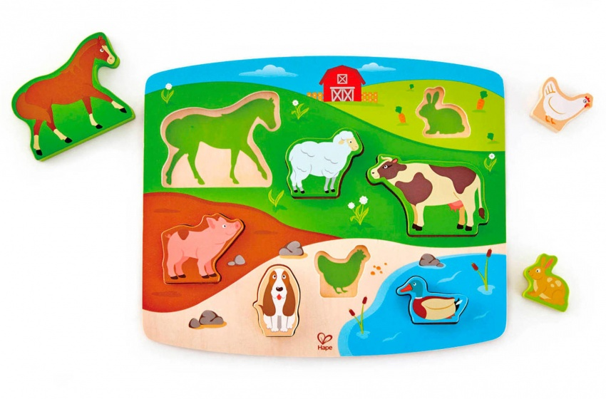 Hape boerderijpuzzel 8 stukjes