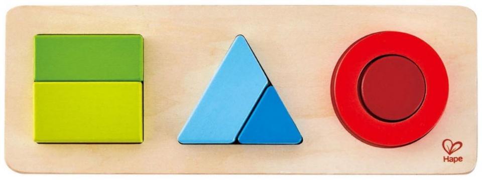 Hape geometriepuzzel 6 stukjes