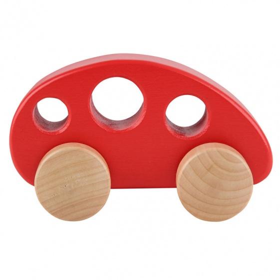 Hape houten auto 12,5 cm rood