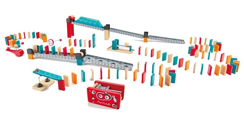 Hape houten dominospel robotfabriek 122 delig