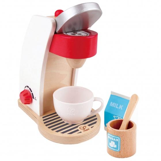mijn houten koffie machine