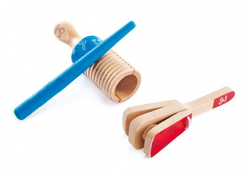 Hape houten percussie instrumenten 2 delig