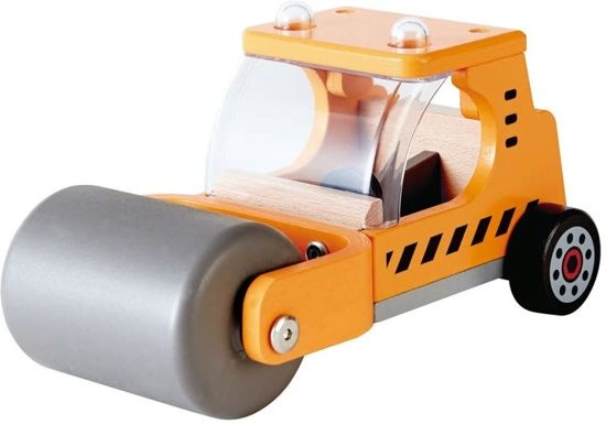 Wooden Toy Car Roller 26 Cm Orange