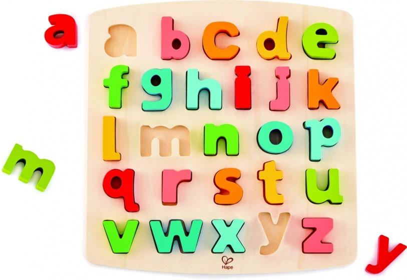 Hape houten vormenpuzzel Alfabet onderkast junior 27 delig