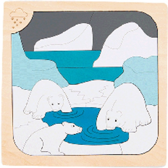Hape houten vormenpuzzel Freezing junior blank 34 delig