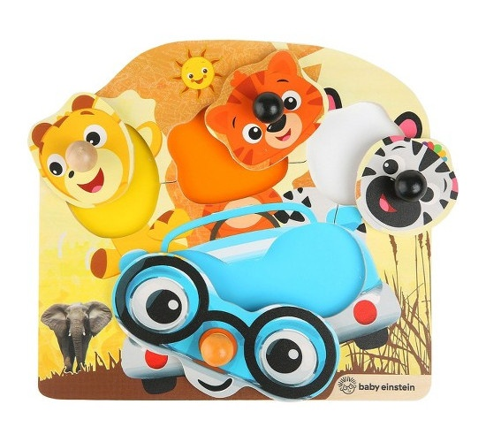 Hape houten vormenpuzzel Friendly Safari 5 delig