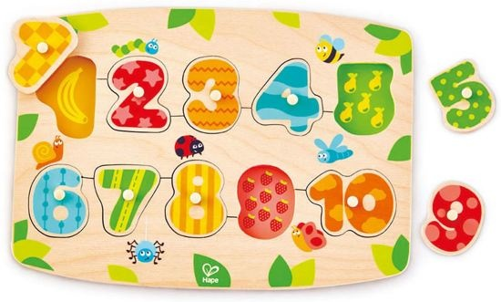Hape houten vormenpuzzel Getallen junior blank 11 delig