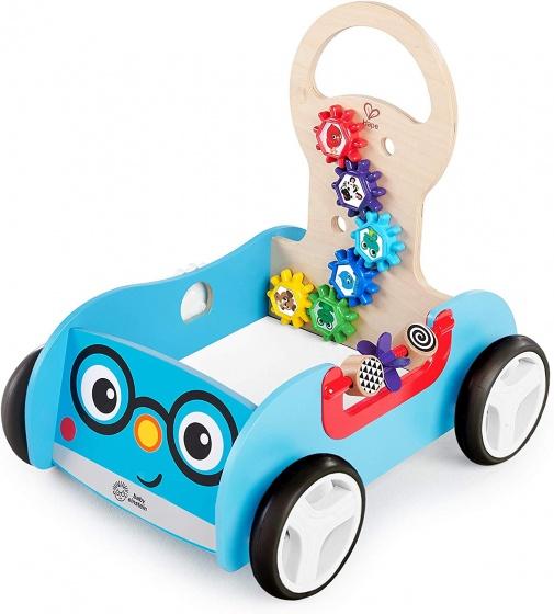 Hape loopwagen Discovery Buggy hout 48,5 cm blauw